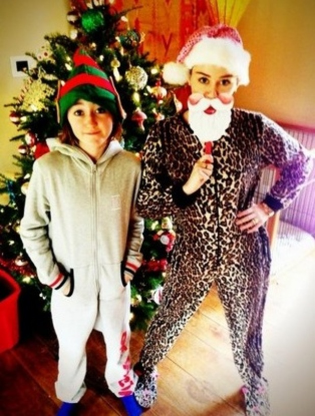 Miley Cyrus on Christmas Day