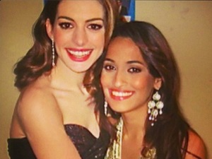 Shweta Pandit with Anne Hathaway