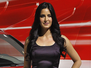 Katrina Kaif poses during the launch of Audi Q3 at the India Auto Expo in January 2012.