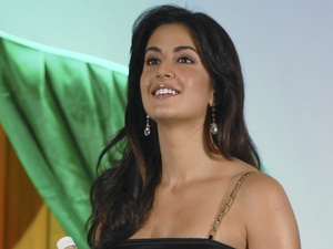 Katrina Kaif during a promotional event for the juice drink Aamsutra in in 2008.