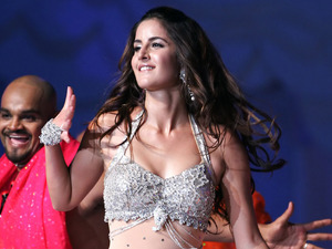 Katrina Kaif performs on stage during the Global Indian Film Awards held in Kuala Lumpur in 2006.