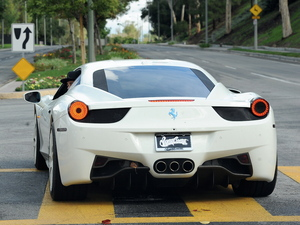 Pop star Justin Bieber spotted heading back home to his Calabasas Estate in his new Ferrari with girlfriend Selena Gomez after spending the night at her house - Los Angeles, California - 03.12.12