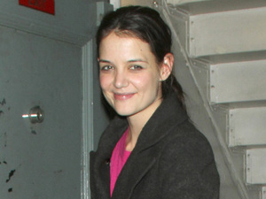 Katie Holmes - The Dead Accounts cast leaving the Music Box Theatre and signing autographs in New York