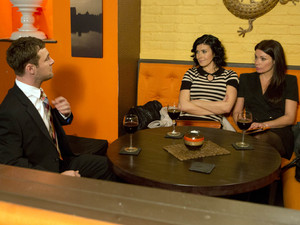 8041: Rob is surprised to be met by Carla and Michelle when he arrives for a business meeting at the Bistro