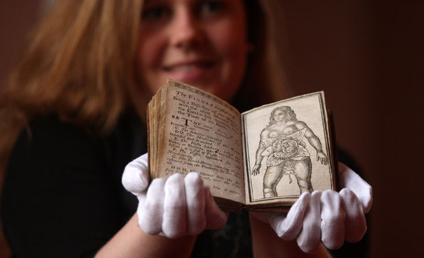 "Lyon & Turnbull book specialist Cathy Marsden looks at a 1760 manual for sex and pregnancy called ""Aristotle's Compleat Masterpiece"" to be auctioned in Edinburgh January 9"