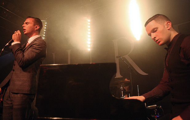 Hurts performing live at Desmet Studios