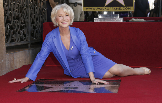 Dame Helen Mirren - Hollywood Walk of Fame star ceremony