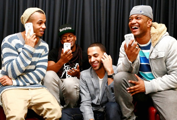 JLS on their BlackBerrys