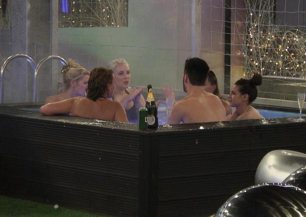 Celebrity Big Brother 2013: Housemates in the hot tub.