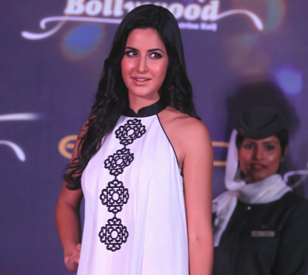 Katrina Kaif posses for a picture during an event of Eithad Airways, the national airline of the United Arab Emirates in Mumbai, 2011.