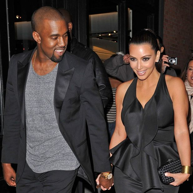 Kim Kardashian and Kanye West first spotted holding hands, New York - April 23 2012