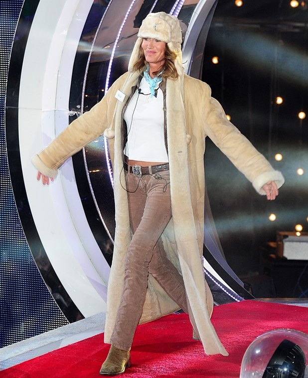 Paula Hamilton arriving at the launch of Celebrity Big Brother 2013