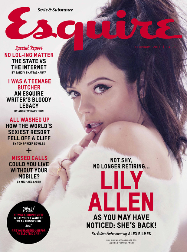 Lily Allen on the February cover of Esquire magazine