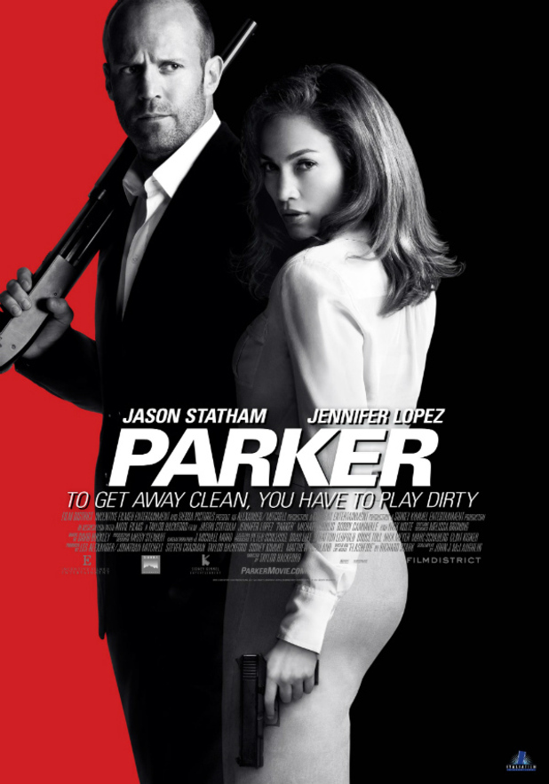 'Parker' poster featuring Jason Statham and Jennifer Lopez
