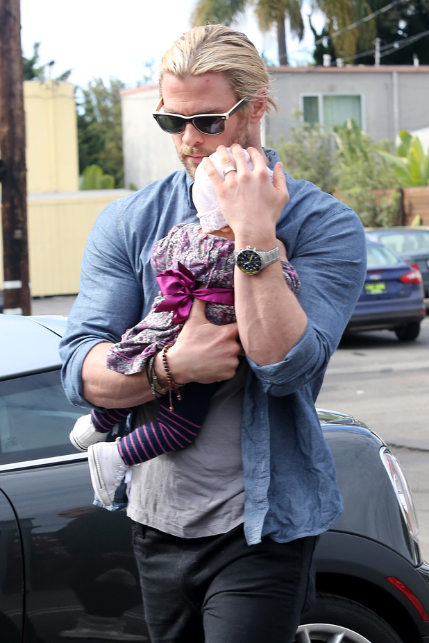 Chris Hemsworth and daughter India Rose Hemsworth