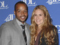 The Kick-Ass 2 actor's wife Cacee Cobb gives birth to their first child.