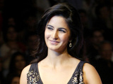 Katrina Kaif models a creation by designer Ashish Soni during India Fashion Week in 2008.