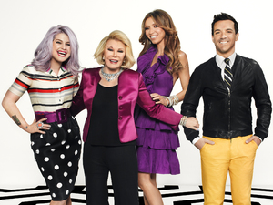 E! Fashion Police hosts George Kotsiopoulos, Joan Rivers, Giuliana Rancic and Kelly Osbourne
