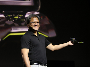 nVidia&#39;s Jen-Hsun Huang introduces the Project Shield handheld console at CES 2013