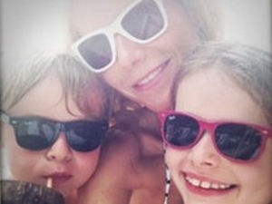 Gwyneth Paltrow and her kids Apple and Moses