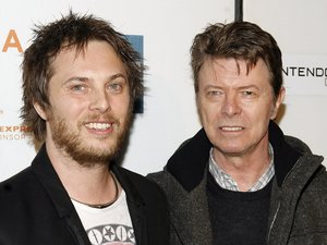 David Bowie with son Duncan Jones at the Tribeca Film Festival screening of 'Moon', 2009
