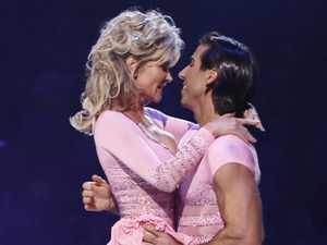 Dancing on Ice Week 2: Anthea and Andy during the Skate Off.