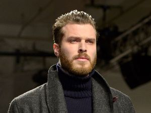 Rick Edwards, Oliver Spencer fashion show, London Collections: Men