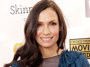 Famke Janssen arriving at the 18th Annual Critics' Choice Movie Awards held at Barker Hangar, California