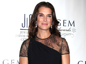 Brooke Shields attends the Annual GEM Awards in New York.