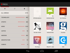 'Press (Google Reader)' screenshot