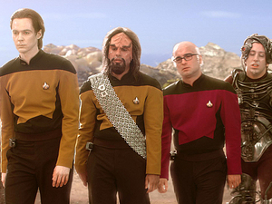 "The Big Bang Theory. ""The Bakersfield Expedition""  While the guys take a road trip to a comic book convention dressed as"