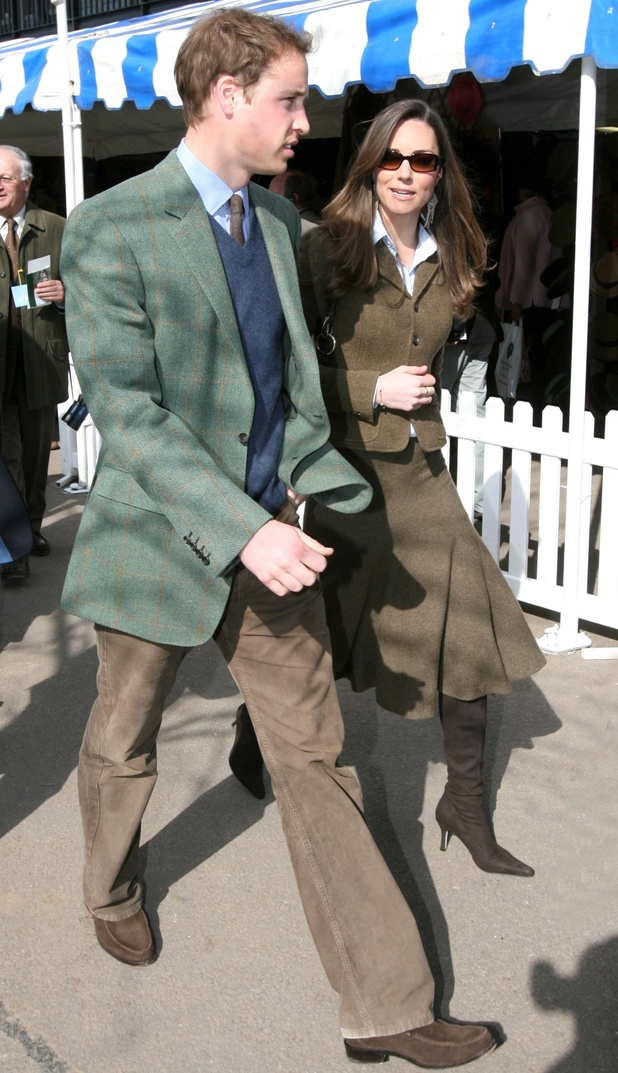 Prince William and Kate Middleton at the Cheltenham Festival horse racing meeting (last picture of them together before their split in April 2007)