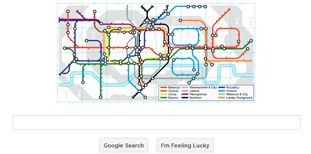 Google marks 150 years of the London Underground