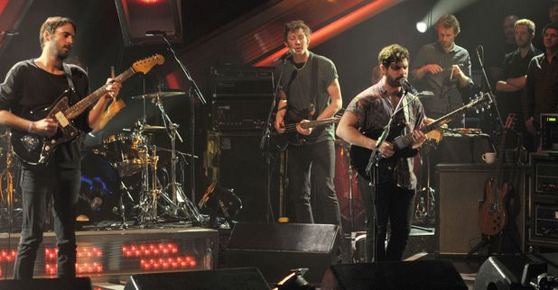 The Foals on &#39;Later with Jools Holland&#39;, 13 Nov 2012 (Jimmy Smith, Walter Gervers and Yannis Philippakis)