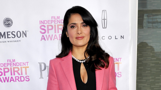 Salma Hayek attends the Independent Spirit Brunch in West Hollywood.