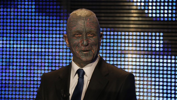 Presidential candidate Vladimir Franz attends a television debate in Prague, Czech Republic,