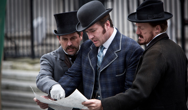 &#39;Ripper Street&#39; S01E04: Sidney Ressler (PATRICK BALADI), Edmund Reid (MATTHEW MACFADYEN), Bennet Drake (JEROME FLYNN)