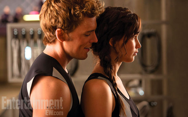 Sam Claflin, Jennifer Lawrence, The Hunger Games: Catching Fire, Entertainment Weekly
