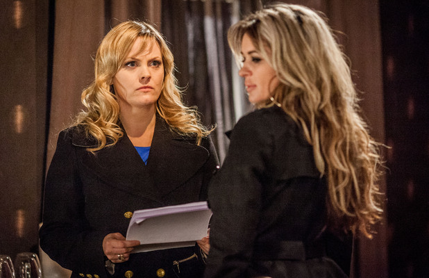 Tanya tries to get Kirsty to sign the divorce petition.