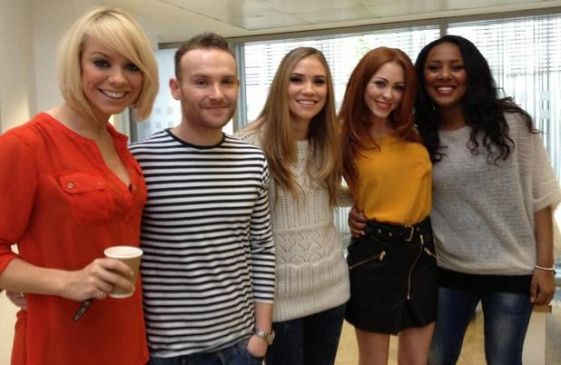 Atomic Kitten and Liberty X pose together for The Big Reunion