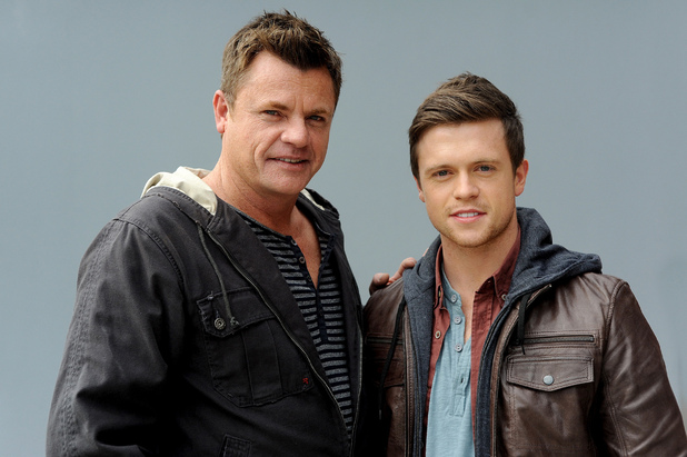 Martin Lynes and Hugo Johnstone-Burt as Adam and Jamie Sharpe in Home and Away