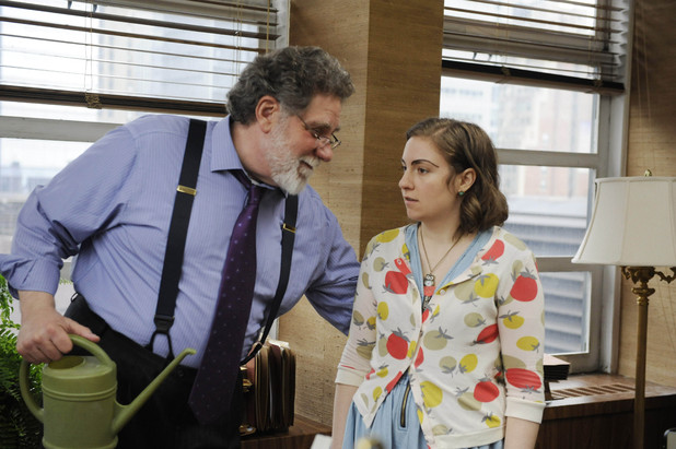 Richard Masur as Rich Glatter and Lena Dunham as Hannah