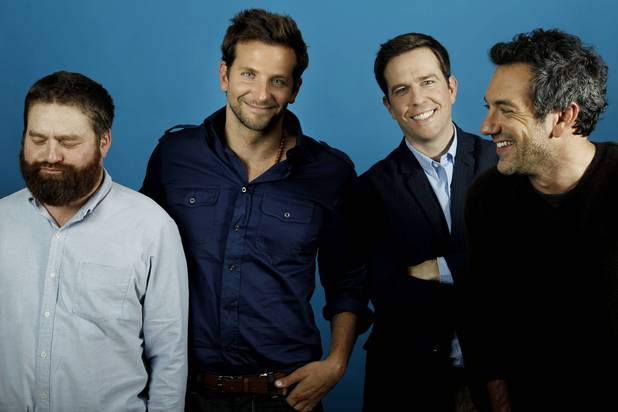Todd Phillips with 'The Hangover' stars Zach Galifianakis, Bradley Cooper and Ed Helms