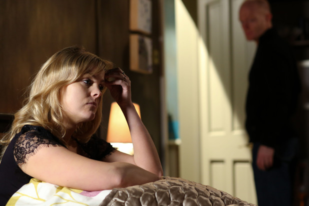 Tanya struggles to get the truth from Max.