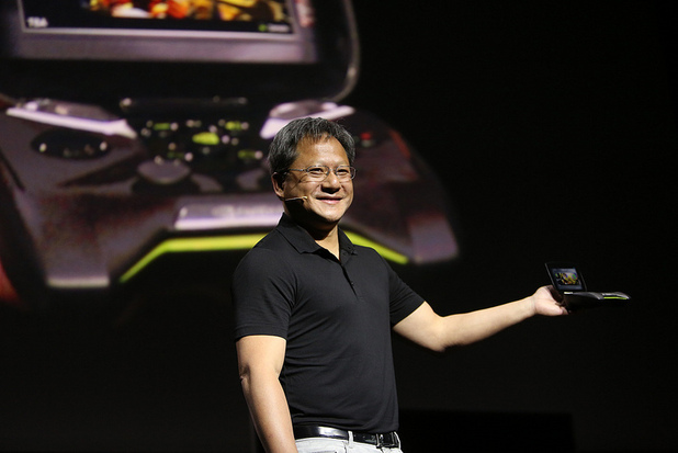 nVidia's Jen-Hsun Huang introduces the Project Shield handheld console at CES 2013