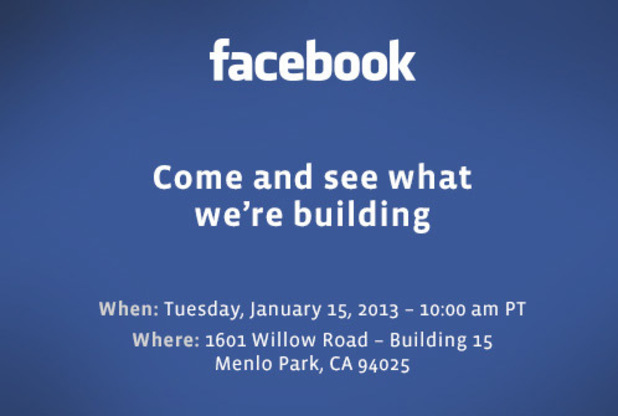 Invite: Facebook Event 15th January