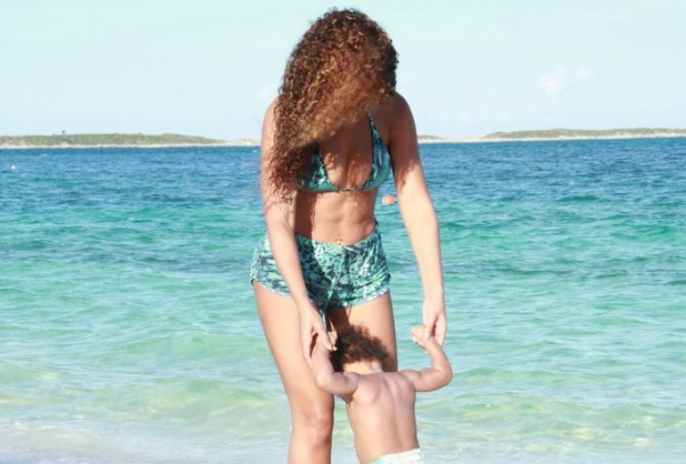 Beyonce and Blue Ivy in a picture posted to Beyonce's Tumblr account