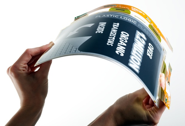 Flexible Monochrome Plastic Display