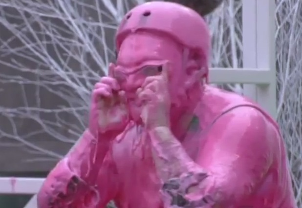 Neil Ruddock after being dumped into the gunge.