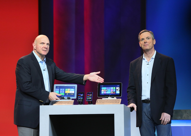 Microsoft's Steve Ballmer and Qualcomm's Dr. Paul Jacobs speak at the pre-show keynote for the 2013 International CES.